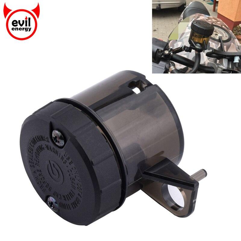 SPEEDWOW Universal motocicleta aceite copa de freno cilindro maestro tanque depósito Cruiser Chopper botella líquida para Honda Suzuki
