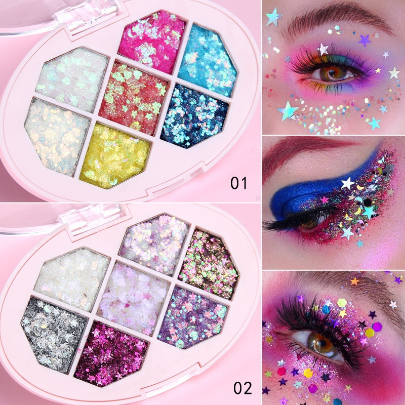 Face Jewels Eyeshadow Shimmer Pigment Body Face Eye Glitter Sequin Gel Cream Eye Shiny Skin Face Festival Cosmetic Glitter недорого