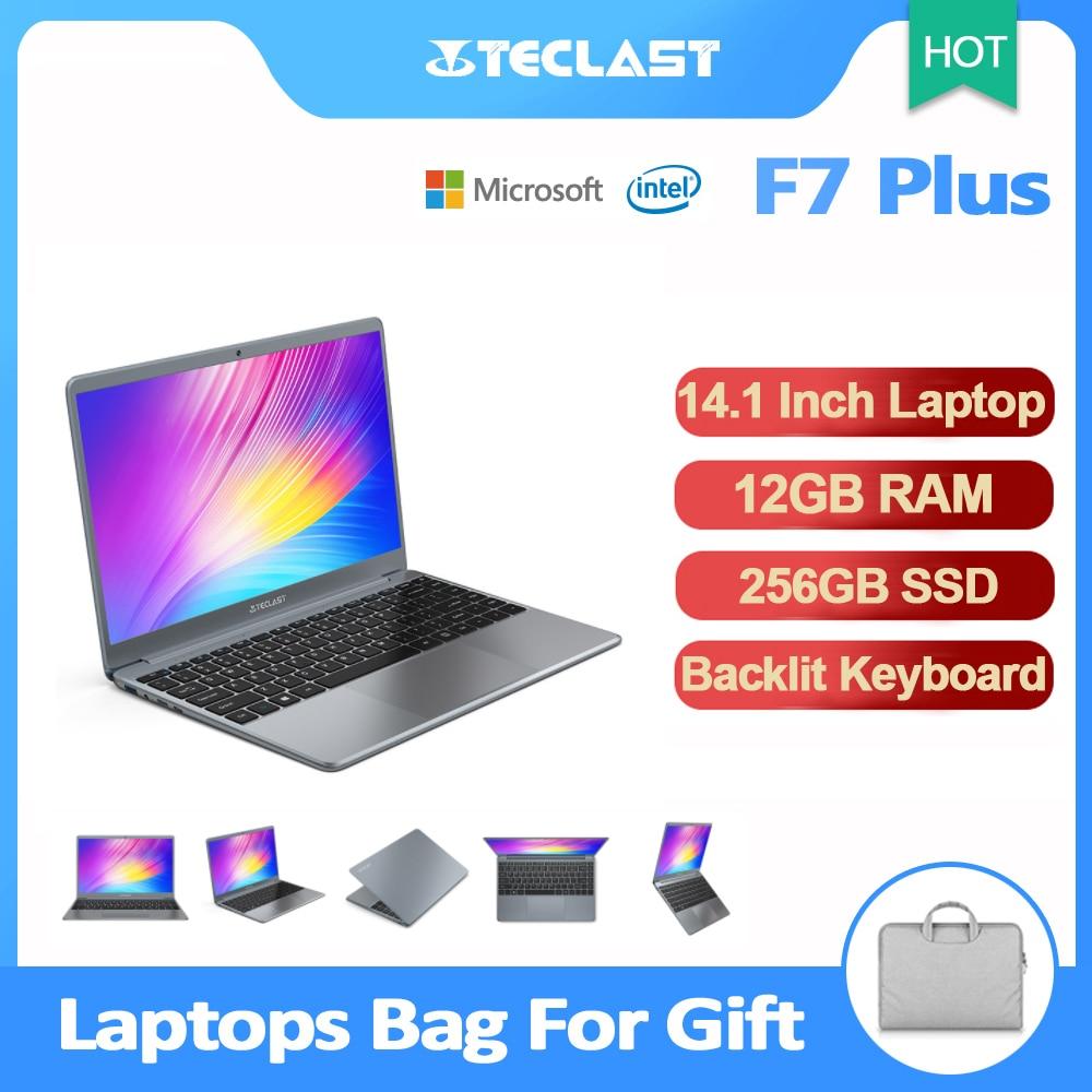 Review Teclast F7 Plus Laptop 14.1 Inch Notebook 12GB RAM 256GB SSD FHD 1920 x 1080 Intel Gemini Lake N4100 Windows 10 Backlit Keyboard
