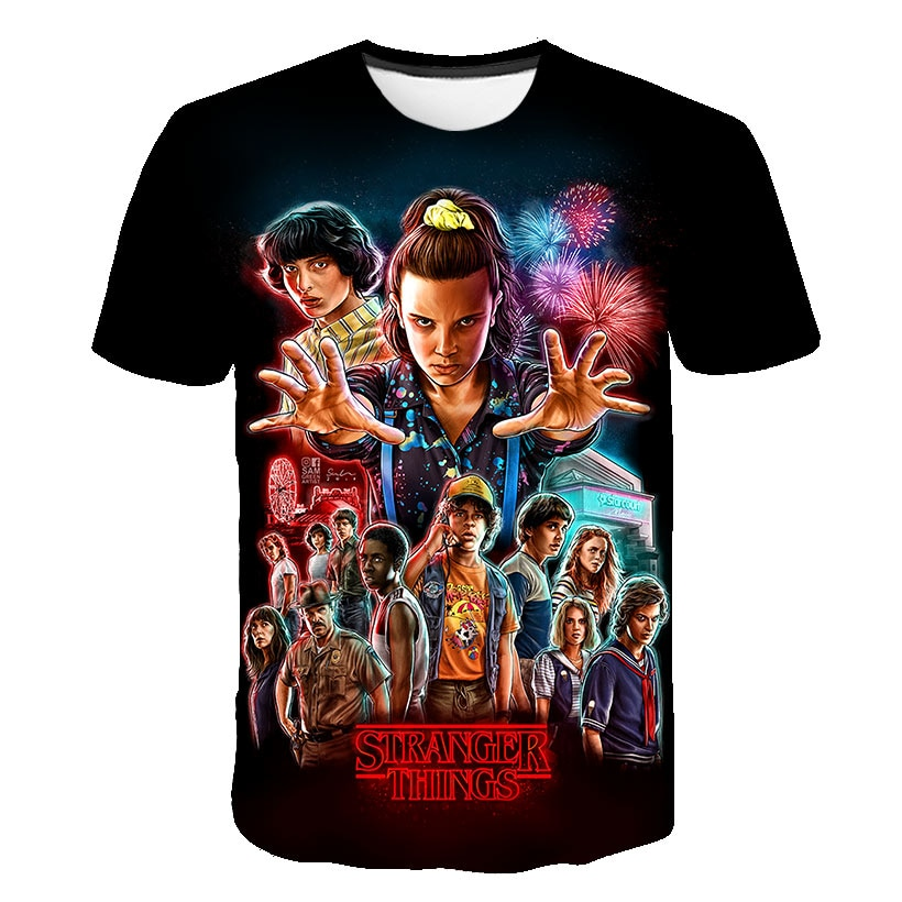 Stranger Things Season 3 T Shirt Boy Upside Down Eleven Tshirt Teen Girls Graphic T-shirt Top Tee Shirts Funny Clothing Harajuku