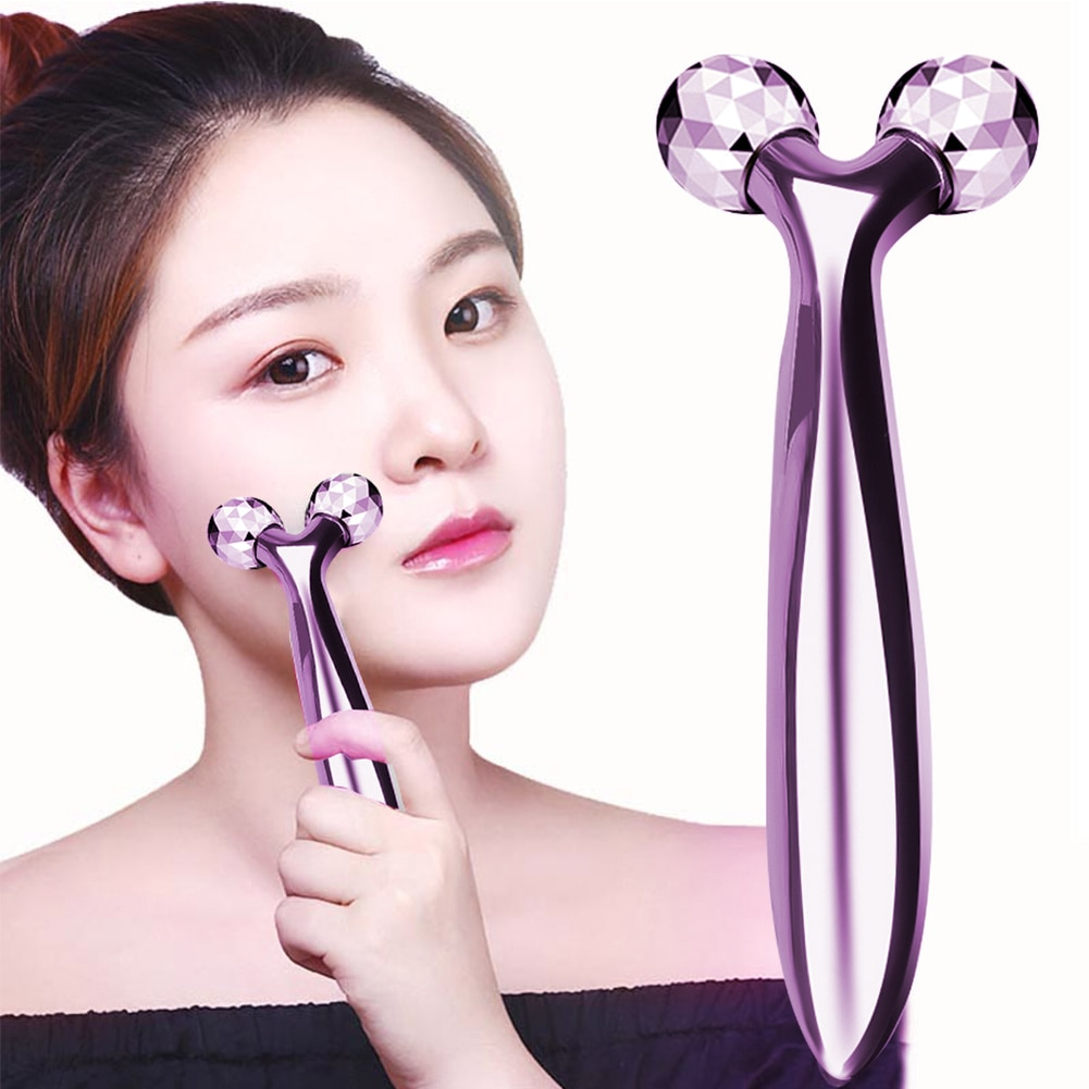 Фото - 3D Roller Massager 360 Rotate Silver Thin Face Full Body Shape Massager Lifting Wrinkle Remover Facial Massage Relaxation Tool amkee face lift 3d massager roller machine thin face skin tighten body shaping chin facial massage relaxation v face massager