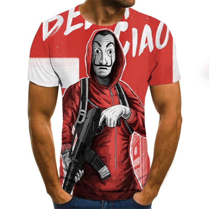 2018 summer fashion 3d print men s short sleeve t shirt 2021 Newest Role Play 3D Print Cool Funny T-Shirt Men Short Sleeve Summer Tops 3D T-Shirt Male Fashion T-Shirt