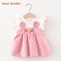 bear leader baby girl autumn dress new lovely party dress toddler baby outfits bow knot sweet costumes casual clothes suits