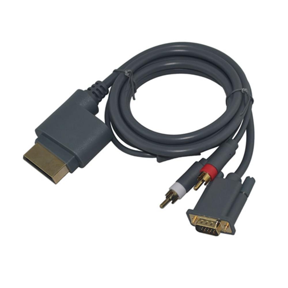 100 Uds alta calidad HD VGA + 2 RCA Cable delgado Audio...
