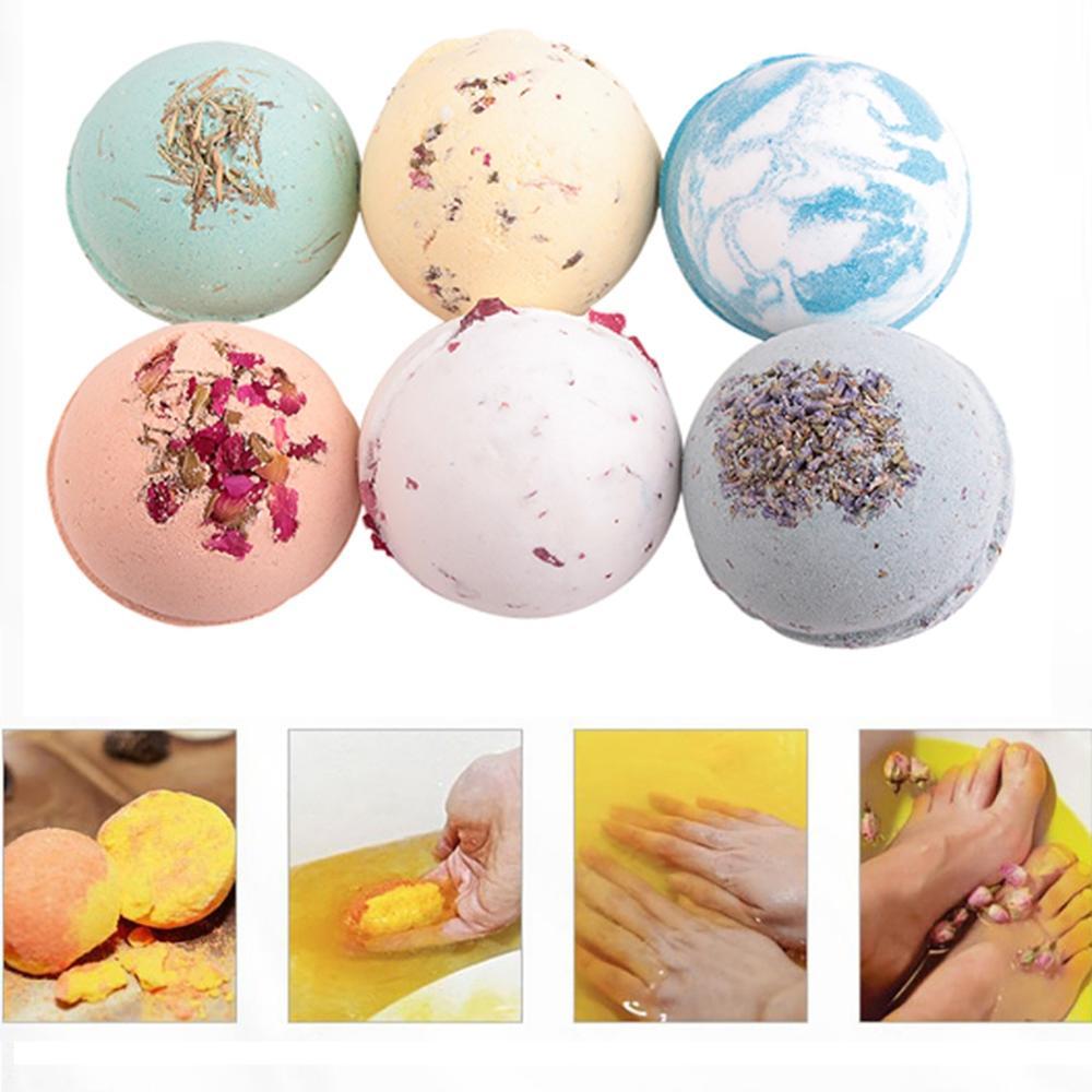 Bola de baño bomba de baño lujoso regalo Deep Sea sal de baño corporal aceite esencial Natural burbuja 100g