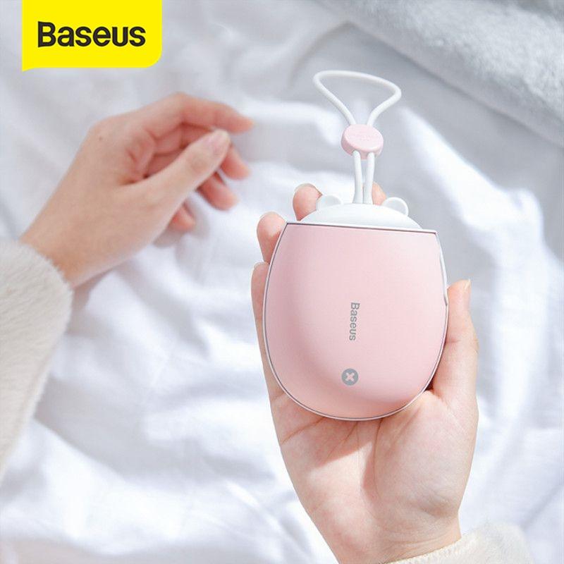 Baseus обогреватель перезаряжаемый ручной обогреватель 4000 мАч аварийный внешний аккумулятор светодиодный Электрический ручной обогреватель удобный теплый Электрический обогреватель