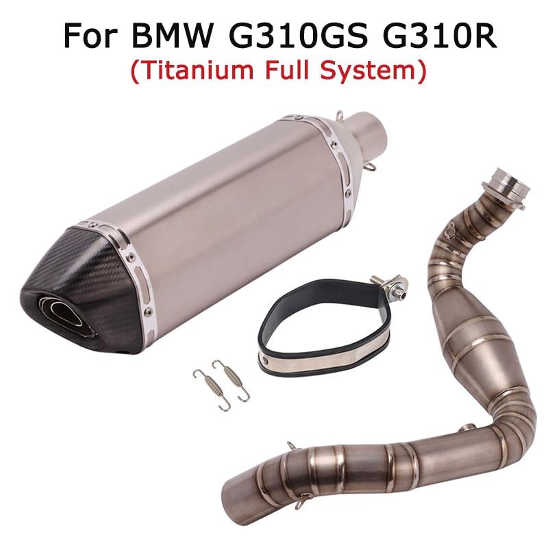 نظام عادم دراجة نارية كامل مع كاتم صوت DB Killer ، عادم أمامي 470 مللي متر ، لسيارات BMW G310GS G310R