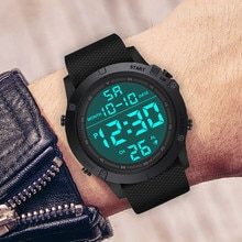 LIGE Digital Men Military Watch 50m Waterproof Wristwatch LED Quartz Clock Sport Watch Male Big Watc