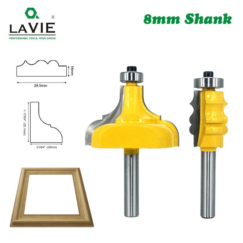 Lavie 8mm shank quadro de imagem roteador bits tenon carboneto de tungstênio linha bit carpintaria fresa para madeira mc02188