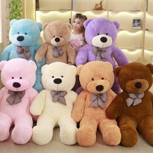 Büyük satış 60 cm-200 cm ucuz dev soluk boş teddy bear ceket oyuncak peluş oyuncak ayı bearskin peluş oyuncaklar 7 renk