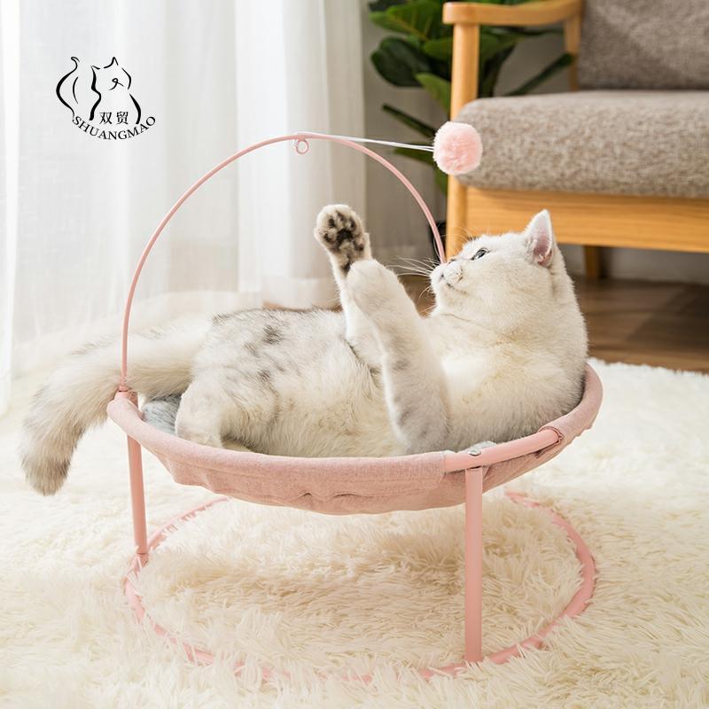 سرير أرجوحة للحيوانات الأليفة ، سرير قطة داخلي ، سجادة نوم لطيفة ، دافئة ، للقطط والكلاب الصغيرة ، عرض خاص