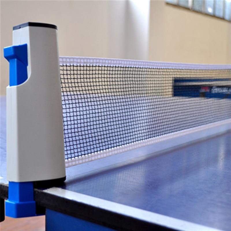 Retráctil malla Net para tenis de mesa de red de malla fuerte portátil red Kit neto Rack reemplazar Kit de Ping-Pong jugar