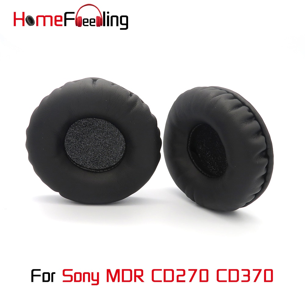 Homefeeling Ear Pads For Sony MDR CD270 CD370  Earpads Round Universal Leahter Repalcement Parts Ear Cushions homefeeling ear pads for sony mdr hw300k earpads round universal leahter repalcement parts ear cushions