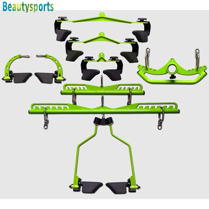 Adjustable Back Rowing Fitness Handle Grips LAT Pull Down Bar High Low Pulldown for Cable Smith Machine Pulley System Attachment