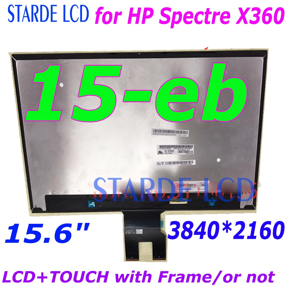15.6inch 3840*2160 4K Laptop LCD for HP Spectre X360 15-eb series 15-eb0043dx LCD Display Touch Screen Digitizer Panel Assembly