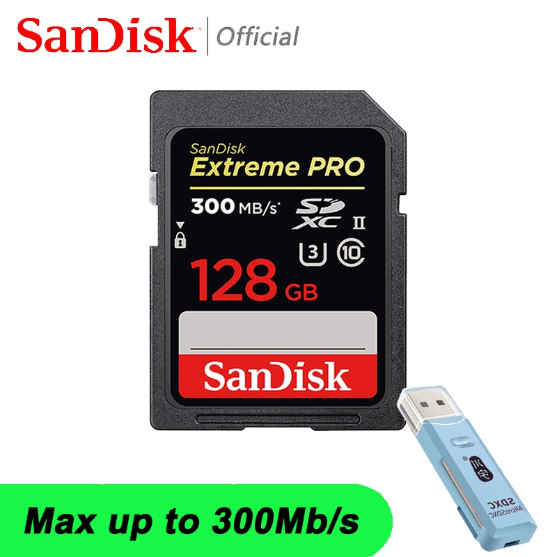 SanDisk Extreme PRO SD Card SDXC/SDHC SD 64GB Class10 Flash Memory Card 128GB TF SD Cards 32GB SDXC SDHC Memory Card For Camera