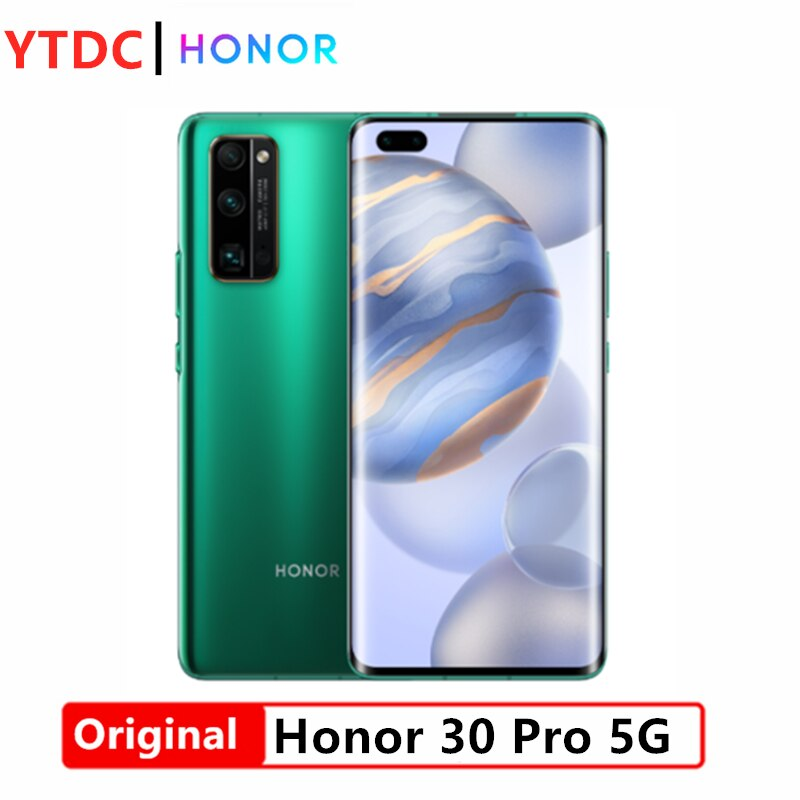 Nuevo Honor 30 Pro 5G teléfono inteligente Kirin 990 5G SoC 6,57 4000mAh batería 2340*1080 OLED pantalla principal cámara 40MP 40W supercargador