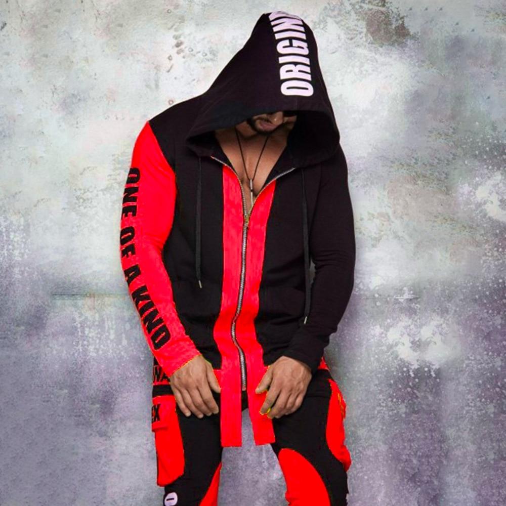 Новинка 2021, комплект из 2 предметов, Мужской осенне-зимний Кардиган, свитшот с капюшоном, Модный Цветной мужской спортивный костюм