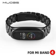 Mi bande 4 sangle métal acier inoxydable pour Xiaomi mi bande 3 sangle Compatible Bracelet mi bande 3 bracelets Pulseira mi band3 Correa