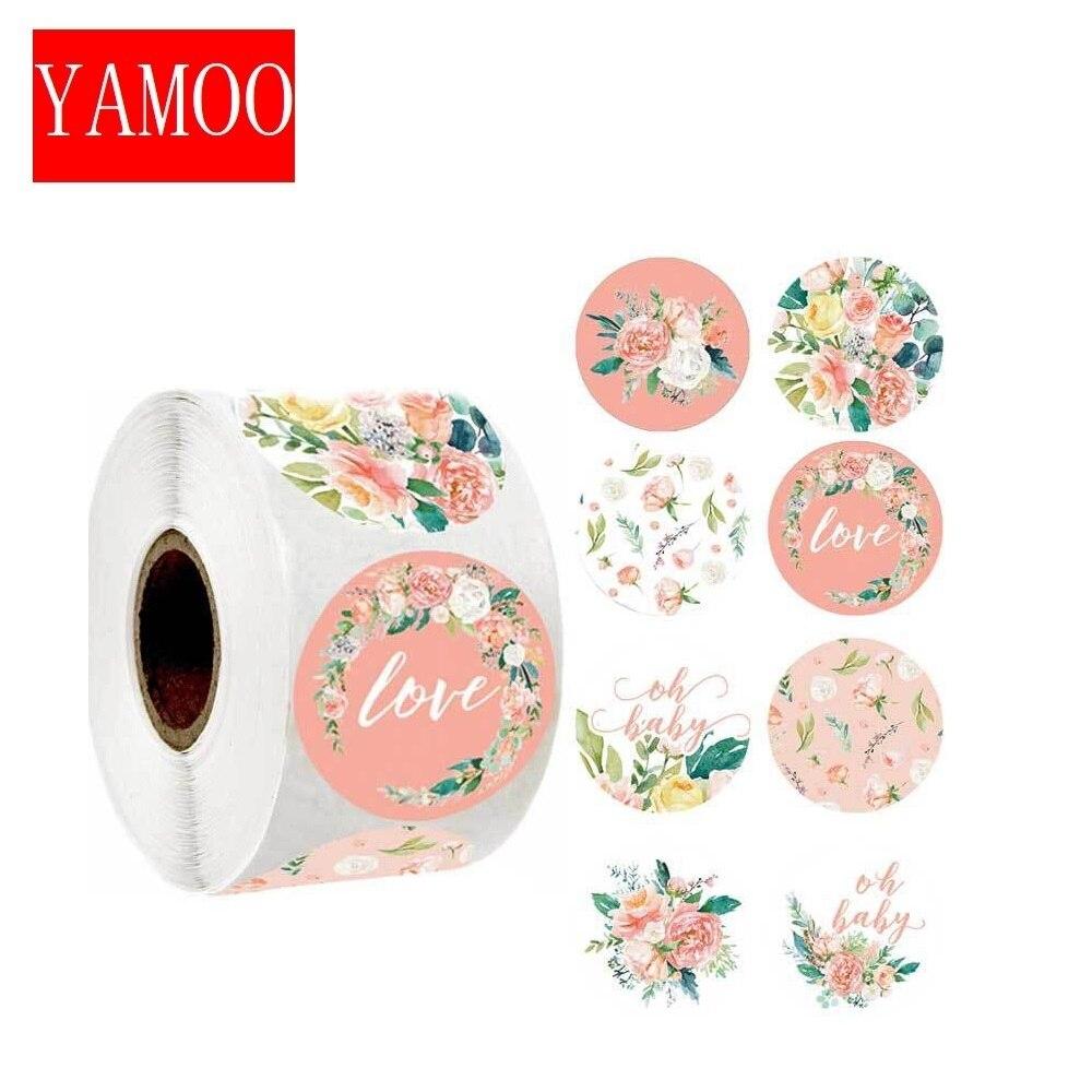 8-tipi-di-fiori-di-progettazione-grazie-adesivi-per-adesivi-di-natale-scrapbooking-sigillo-di-imballaggio-etichette-cancelleria-s
