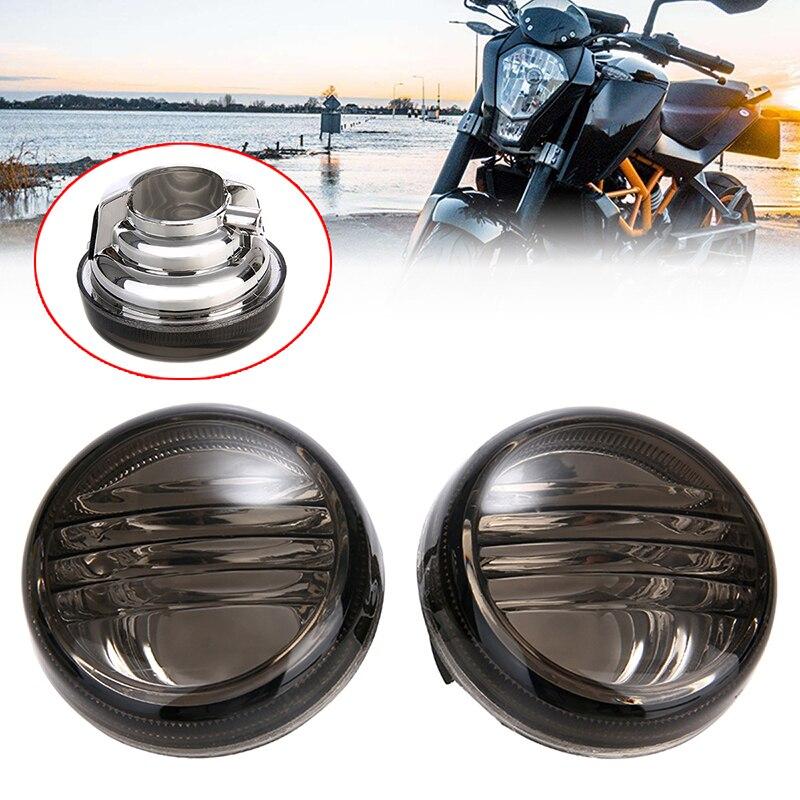 1 пара мотоциклетных дымовых указателей поворота для Suzuki Boulevard VZR1800 VL1500 VL800 C50 VLR1800 C109R охранного Marauder