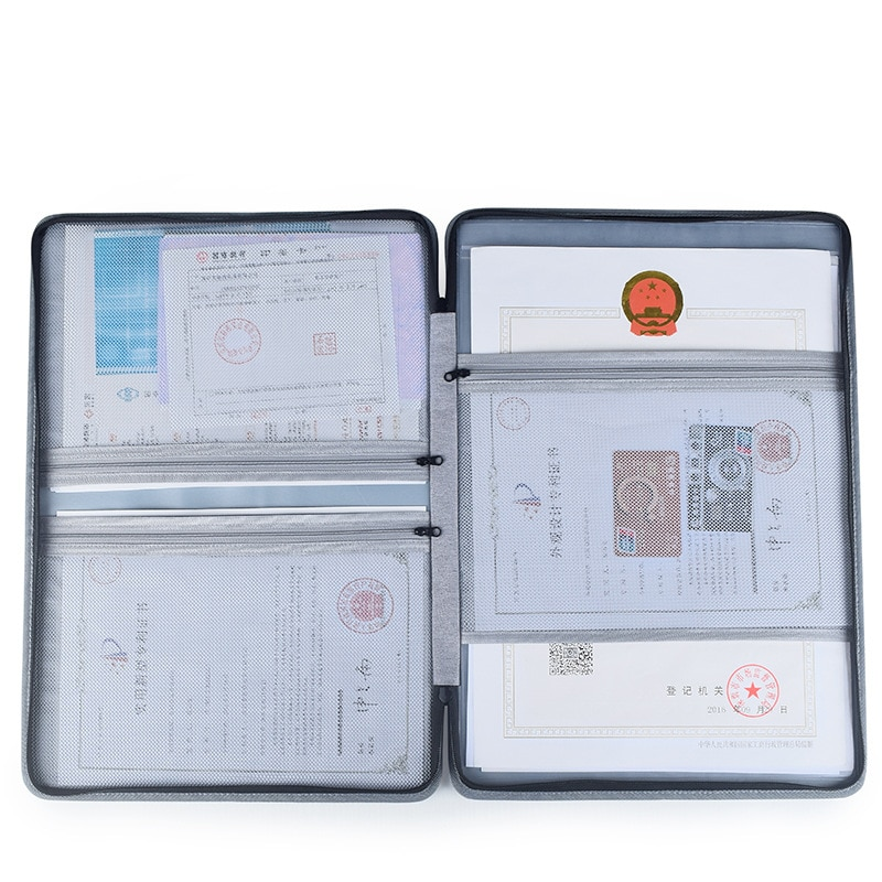 Multifunction License Storage Bag Business Health Permits Certificate Office Credentials Invoice Organize Pack Accessories Items
