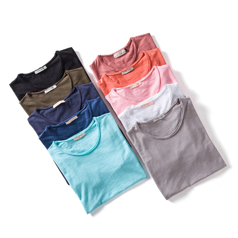 2020 New Summer 100% Cotton O-neck Mens T-shirts Casual Style Short Sleeve Solid T Shirt Men 10 Colors Male Tops Tees triumph spitfire new arrival summer style men short sleeve shirt le cotton casual t shirts