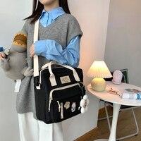 Сумка-рюкзак со значками и брелоком #2