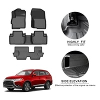 tpe car floor mats for mitsubishi outlander 2019 2020 7 seat waterproof non slip auto styling accessories interior renovation