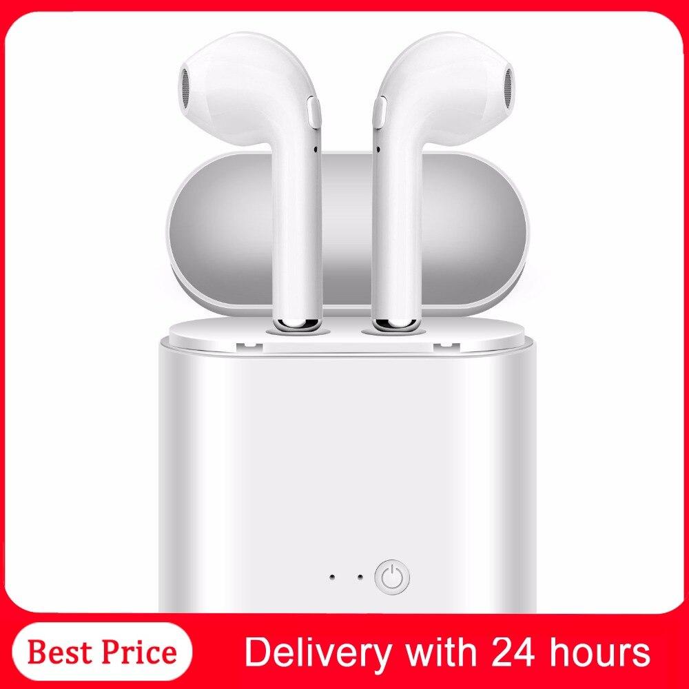 Tws 5.0 bluetooth fone de ouvido estéreo earbud bluetooth wissless fone com vagem carregamento sem fio para todos os telefones inteligentes