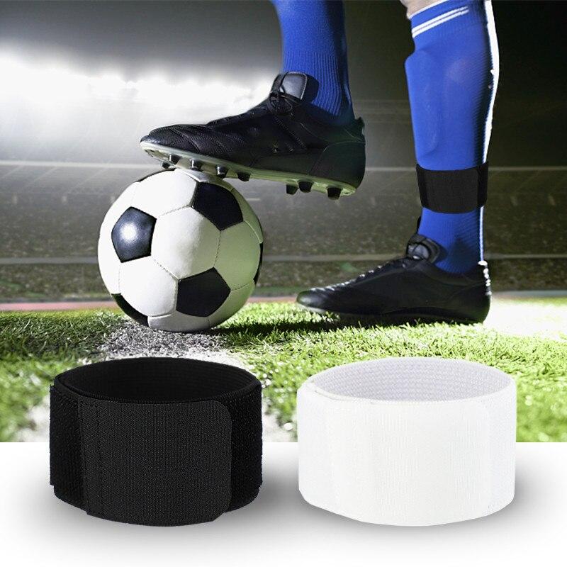 1 paire réglable cheville soutien tricoté tissu élastique sangle fixe Football Football chaussettes vêtements de sport accessoires pour jambe inférieure