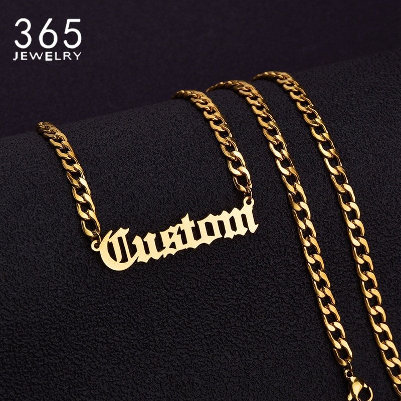 Personalized Customized Name Necklace Pendant Gold Color 5mm NK Chain Custom Nameplate Necklaces for Women Men Handmade Gifts hip hop jewelry cuban chain customized nameplate necklaces for women men punk gold tone solid personalized custom name necklace