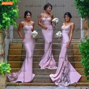 Sexy Mermaid Prom Dresses 2021 Robe De Mariée Lace Appliques Vestido De Fiesta De Boda Customized Women Robe De Bal Femme Longue