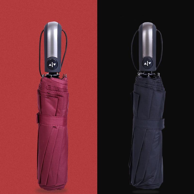 Paraguas plegable resistente al agua para mujer, protector contra el agua con recubrimiento negro, 10K