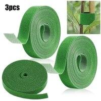 3 rolls green garden twine 5m plant ties nylon plant bandage garden hook loop bamboo cane wrap support garden accessories
