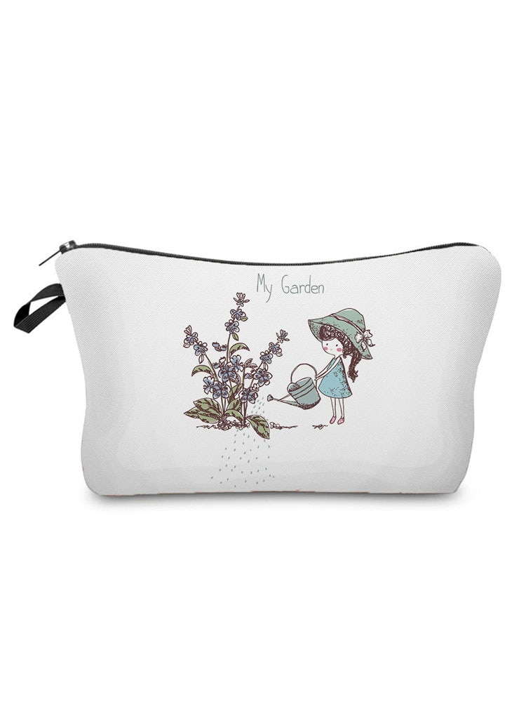 Lovely Printed Girl Cosmetics Organizer Bag High Quality Women's Makeup Bag Portable Storage Bags fo
