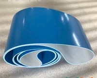 1500mm200mm3mm customized blue food grade pvc conveyor smooth flat belt
