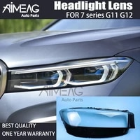 made for 4doors headlight transparent lens cover for bmw g11 g12 2019 2020 2021 car headlight headlamp clear shell replacement