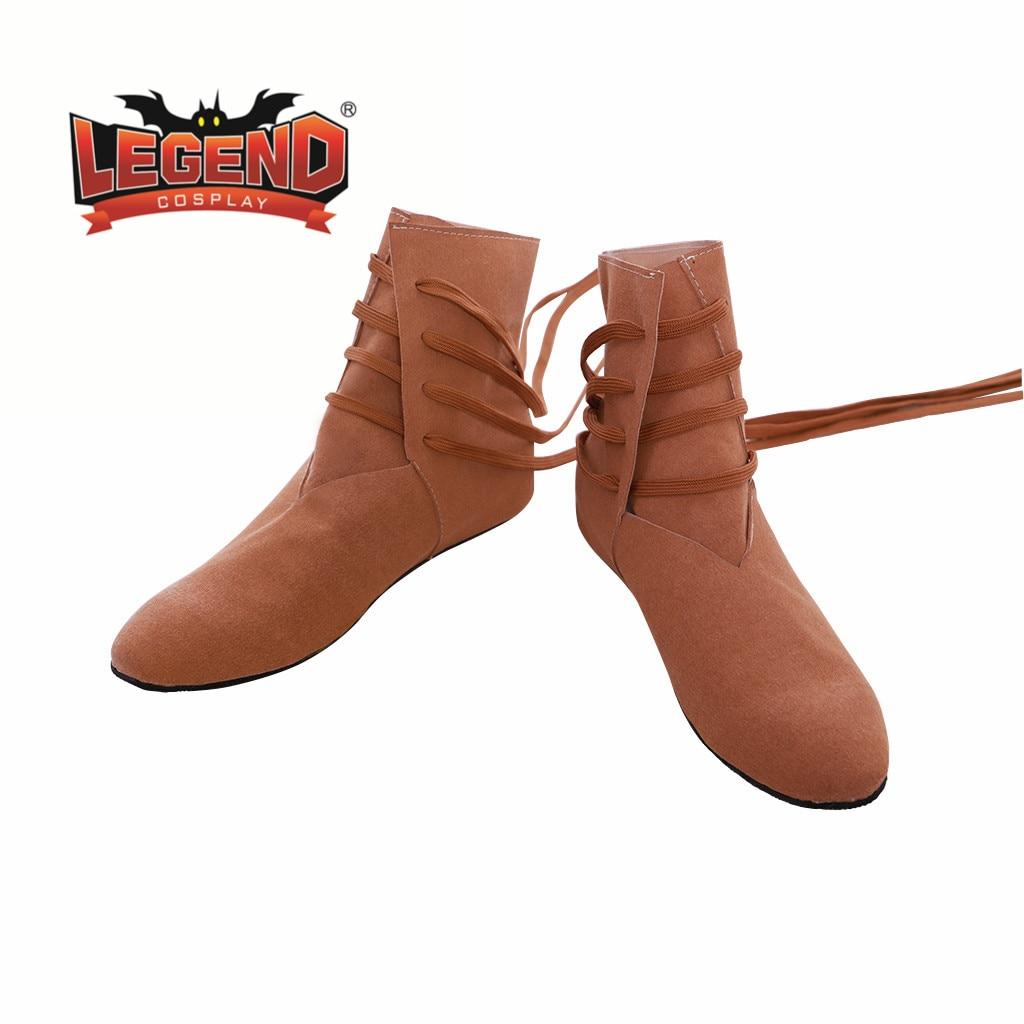 Medieval vikingo tudor cosplay botas Zapatos Festival Larp zapatos botas para hombres mujeres