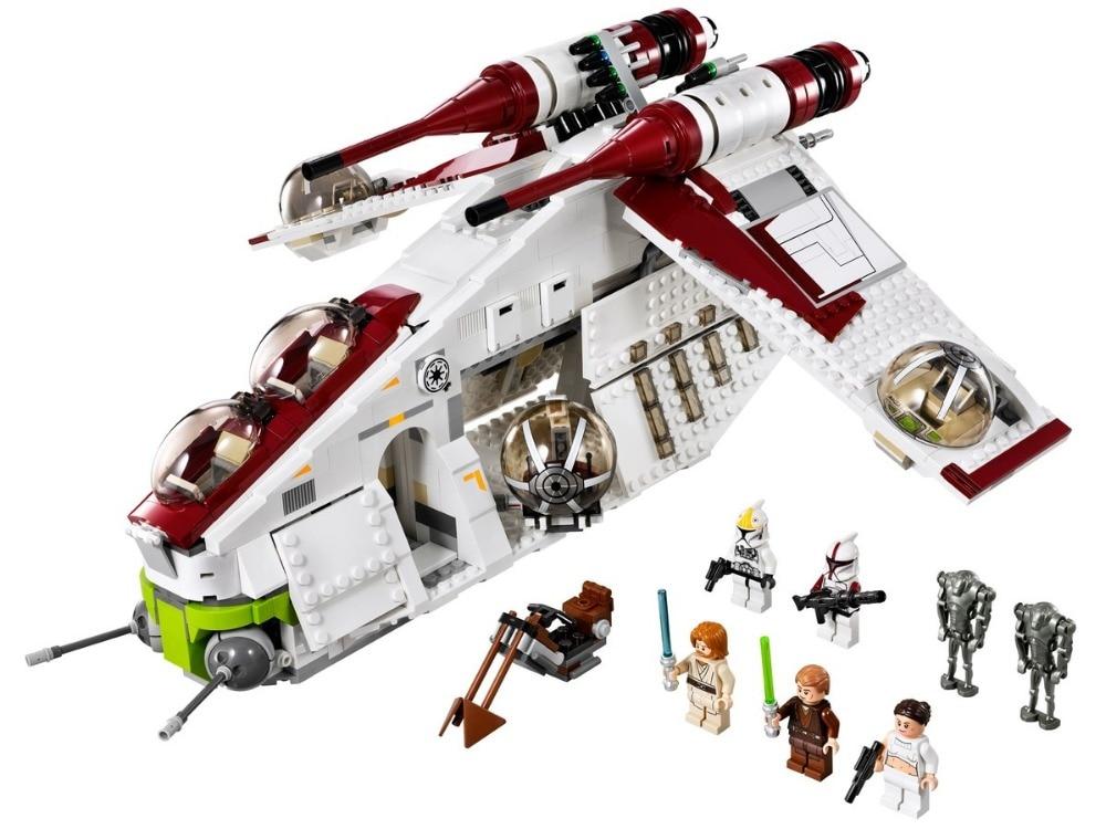 05041 Wars on Star Toy Republic Gunship Set StarWars compatible with Legoinglys 75021 Ship for children Educational Blocks toys