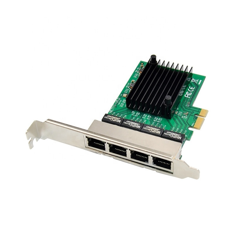 Tarjeta de red PCIe a Quad port RJ45 Gigabit Ethernet NIC PCI-E a 4 puertos RJ45 Gigabit 1000M tarjeta de red Ethernet RTL8111F