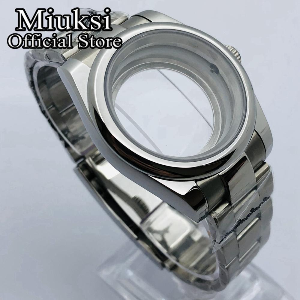 Miuksi 36mm/39mm sapphire glass oyster jubilee bracelet fit NH35 NH36 ETA2836 Mingzhu DG2813 3804 Miyota 8205 8215 821A movement enlarge