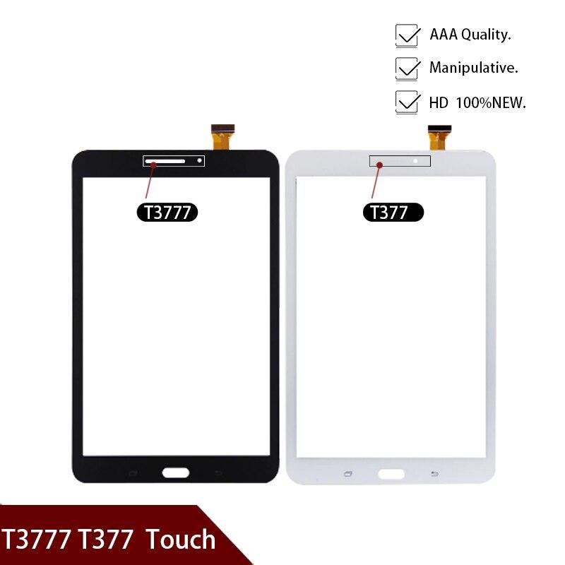 100% nuevo 8 pulgadas para Samsung Galaxy Tab E 8,0 T3777 T377 pantalla táctil panel digitalizador Sensor Lente de Cristal frontal