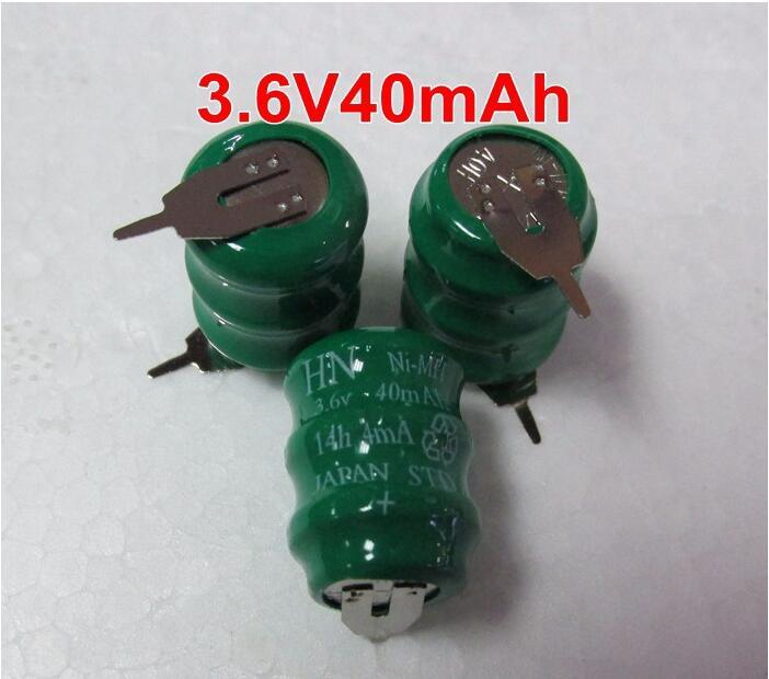 MasterFire 200 unids/lote Original 3,6 V 40mAh Ni-MH batería de respaldo de datos NiMH batería de memoria celular PLC baterías industriales