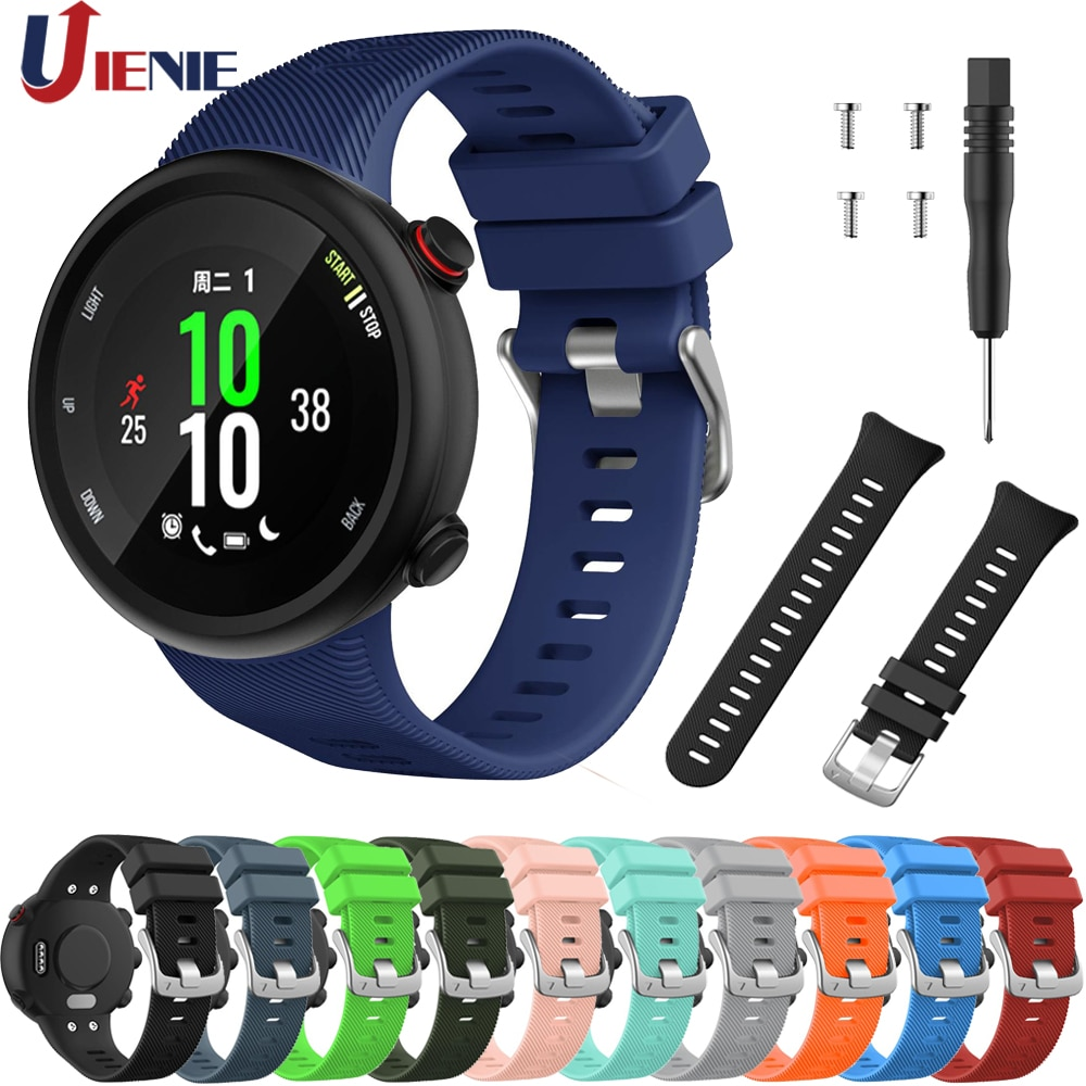 Silicone Band for Garmin Forerunner 45 45s Smart Watchband Strap Sport Replacement Wristband Colorful Bracelet Correa with Tool