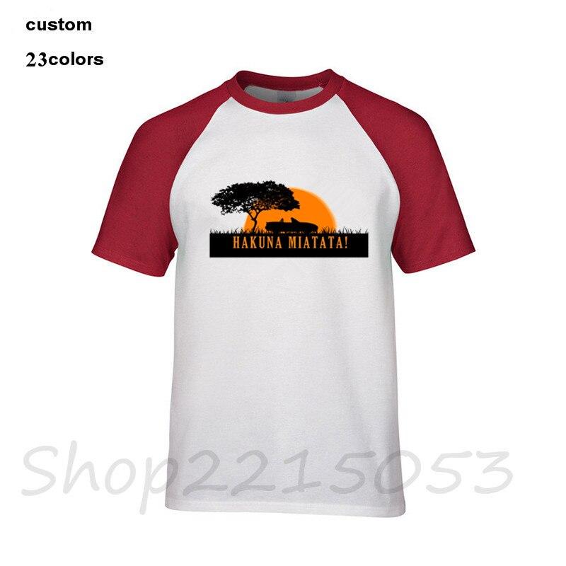 Hakuna MX-5 miata evolution versão 1 camiseta masculina design superior manga curta plus size algodão 3xl camiseta masculina preto branco t camisas