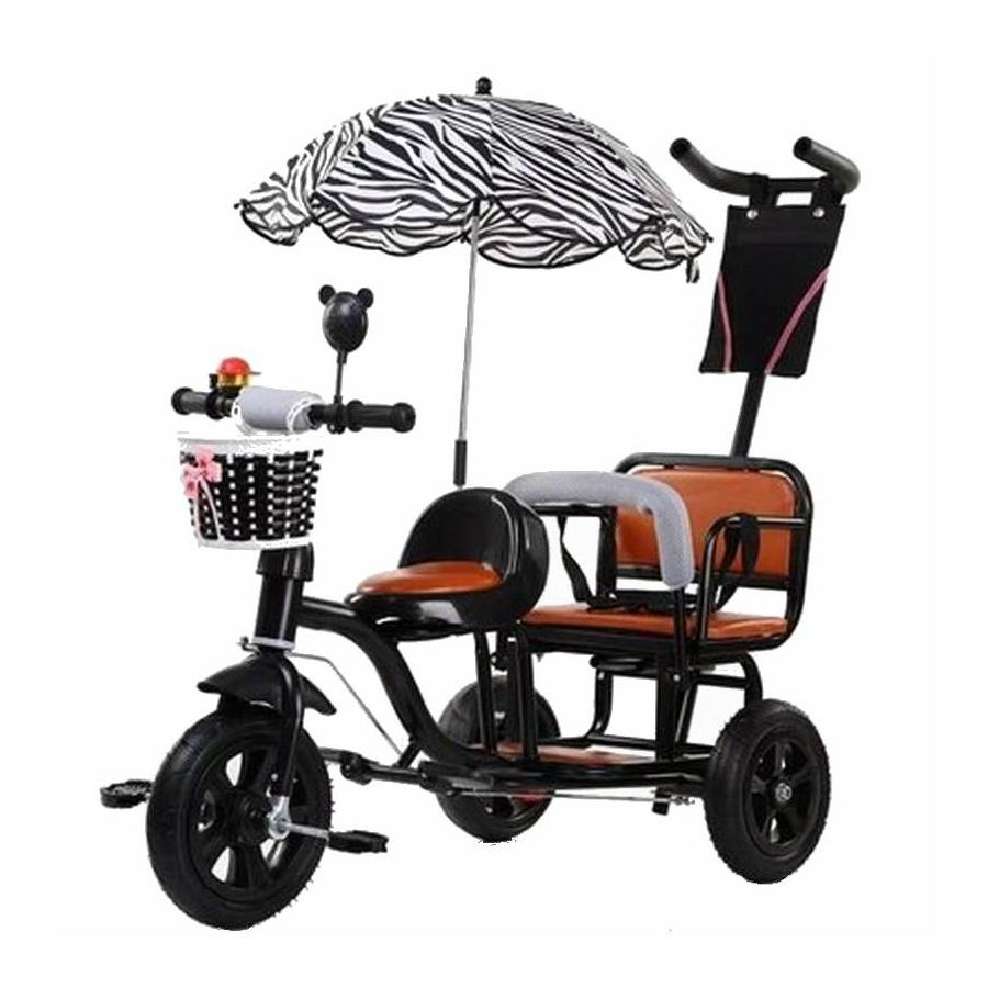 2021 Child Tricycle bicycle twin bike baby new style double seat stroller large size boy girl two-seat  stroller for gifts