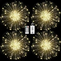 remote led exploding star fireworks string lights outdoor 8 modes christmas garland fairy lights for party bar garden decoration