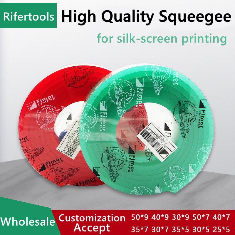 الجملة 50x9x3660 مللي متر في لفة 65A 70A 75A 80A 85A مقاومة للاهتراء المذيبات الحرير ممسحة لشاشة الطباعة المطاط مكشطة