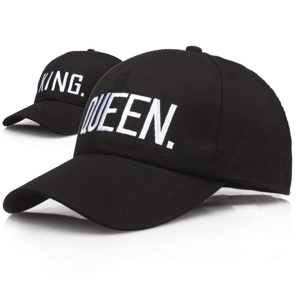 KING QUEEN Baseball Cap Letter Embroidery Snapback Men Women Visor Dad Bone Couple Lover Hip Hop Sport Gorras Casquette Hats